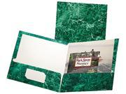 Esselte Pendaflex 51617 Marble Laminated High Gloss Paper  Emerald Green