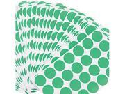 Universal 40115 Permanent Self-Adhesive Labels  3/4D Dia. Green  1008 per Pack