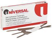 Universal 81003 Self-Adhesive Paper And File Fasteners  1 in.Capacity  100 per Box