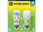 GE Lighting 49907 2 Count 10 Watt Spiral CFL Light Bulb