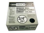 "Southwire 55082321 3/4"" X 25' Armor Flex® Reduced Wall Flexible Aluminum Condui"