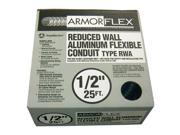 "Southwire 55082121 1/2"" X 25' Armor Flex® Reduced Wall Flexible Aluminum Condui"