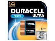 DURACELL   PROCTOR AND GAMBLE 2 Count 3 Volt Lithium Duracell® Ultra 123 Photo Battery