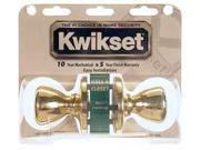 Kwikset 92001-280 Polished Brass Tylo Knob Passage Set
