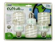 Feit Electric BPESL18TM/3/ECO 3 Pack 18 Watt ECObulb® Plus Compact Fluorescent Bulb