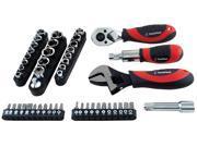 GREAT NECK SAW 50 Piece Ratchet Socket & Wrench Set