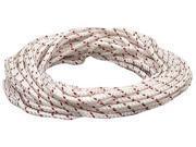 The Lehigh Group BPE1050W 50' White & Red Polypropylene Diamond Braid Rope