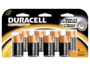 DURACELL   PROCTOR AND GAMBLE 8 Count C Cell Duracell® Coppertop Alkaline Batteries