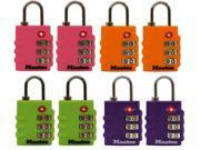Master Lock 4684T Assorted Colors Luggage Locks