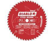 "FREUD                                    7-1/4"" 48T Diablo™ Steel Demon™ Ferrous Metal Cutting Circular Saw Blade"