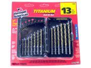 Vermont American 12385 13 Piece Set Titanium Drill Bits