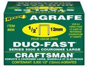 "Arrow Fastener 858 5,000 Count 1/2"" X 1/2"" Duo Fast® Staples"