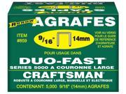 "Arrow Fastener 859 5,000 Count 9/16"" X 1/2"" Duo Fast® Staples"