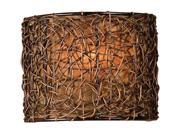 Uttermost Knotted Rattan 1 Light Wall Sconce
