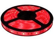 HitLights Non-Waterproof Red SMD3528 LED Light Strip - 300 LEDs, 16.4 Ft Roll, Cut to length - 72 Lumens per foot, Requires 12V DC, IP30