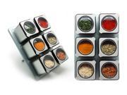 CarteretMagnetic Spice Rack with 6 Tin Jars