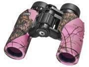 Barska 8X30 Waterproof Crossover Binoculars in Mossy Oak Winter (Pink)