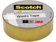 "3M Washi Tape .59""X393"" (15mmx10m)-Gold"