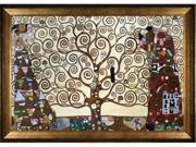 """Art Reproduction Oil Painting - Klimt Paintings: The Tree of Life, Stoclet Frieze, 1909 with Athenian Gold Frame - Antique Gold Finish - Eco Friendly - 29"""" X 41"""" - Hand Painted Framed Canvas Art"""