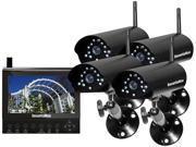 SecurityMan DIGILCDDVR4 Four digital wireless cameras with LCDDVR system Black