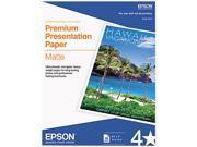 """Epson S041257 Inkjet Paper Letter - 8.50"""" x 11"""" - Matte - 97 Brightness - 50 / Pack - White"""