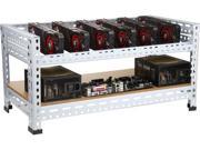 DIYPC  Ultimate Miner-V1 Open Air  Bench Computer Case Rack for Cryptocurrency (Bitcoin, Litecoin, Feathercoin) GPU mining – PC components not included - Retail