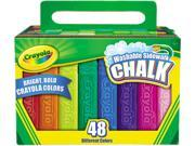Washable Sidewalk Chalk, 48 Assorted Bright Colors