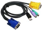 Iogear PS/2-USB KVM Cable - 10ft