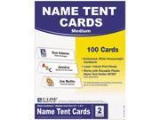 """C-line 87587 Tent Card For Inkjet, Laser Print - Letter - 8.50"""" x 11"""" - 50 / Box - White"""