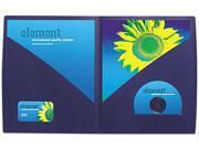 Impact Designer Two-Pocket Folder, 11 X 8-1/2, Navy, 5/Pack