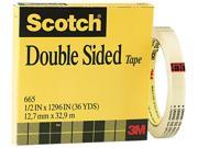 """Double Sided Office Tape, 1/2"""" X 36 Yards, 3"""" Core, Clear"""