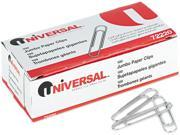 Smooth Paper Clips, Wire, Jumbo, Silver, 100/Box