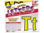 "Ready Letters Playful Combo Set, Yellow, 4""h, 216/Set"