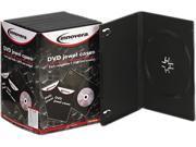 Innovera 72810 Standard DVD Case, Black, 10/Pack