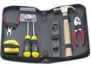 General Repair Tool Kit In Water-Resistant Black Zippered Case