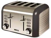 1600-Watt 4-Slice Gray/Stainless Steel Toaster