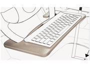 - 00041 - Wheel Desk and Tablet Mount Combo, 15 x 1 x 8 1/2, Wood/Aluminum, Gray