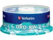 Verbatim 4.7GB 4X DVD-RW 30 Packs Spindle Disc Model 95179