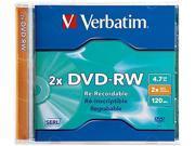 Verbatim 4.7GB 2X DVD-RW Single Disc Model 94501