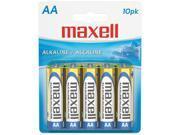 maxell 723410 - LR610BP 10-pack AA Alkaline AA Alkaline Batteries