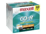 Maxell CD Rewritable Media - CD-RW - 700 MB - 10 Pack Slim Case