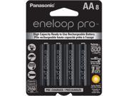 Panasonic BK-3HCCA8BA 8-pack AA eneloop pro Rechargeable Batteries