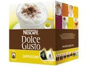 Coffee Capsules, Cappuccino, 2.13Oz, 16/Box