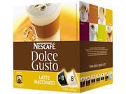 Coffee Capsules, Latte Macchiato, 2.01Oz, 16/Box