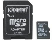 Kingston 4GB microSDHC Flash Card Model SDC10/4GB
