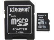 Kingston 8GB microSDHC Flash Card Model SDC10/8GB