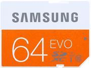 SAMSUNG EVO 64GB Secure Digital Extended Capacity (SDXC) Flash Card Model MB-SP64D/AM