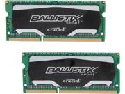 Crucial Ballistix Sport SODIMM 16GB (2 x 8G) 204-Pin DDR3 SO-DIMM DDR3L 1600 (PC3L 12800) Laptop Memory Model BLS2K8G3N169ES4