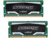 Crucial Ballistix Sport SODIMM 8GB (2 x 4GB) 204-Pin DDR3 SO-DIMM DDR3L 1600 (PC3L 12800) Laptop Memory Model BLS2K4G3N169ES4