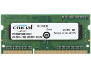 Crucial 4GB 204-Pin DDR3 SO-DIMM DDR3 1600 (PC3 12800) Laptop Memory Model CT51264BF160BJ